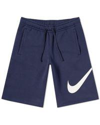Nike - Fleece Club Short - Lyst