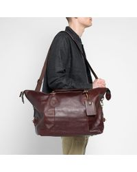 Barbour Leather Medium Travel Explorer - Brown