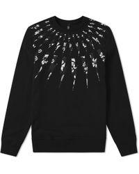 Neil Barrett - Fairisle Floral Lightning Bolt Sweatshirt - Lyst