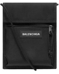Balenciaga Nylon Shoulder Pouch - Black