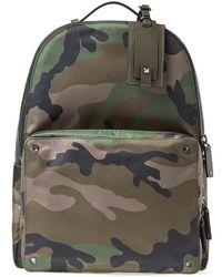 Valentino - Nylon Jacquard Camo Backpack - Lyst