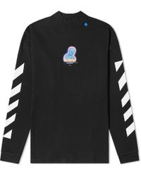 Off-White c/o Virgil Abloh Graphic Cotton Long-sleeve T-shirt - Black
