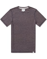 Norse Projects James Contrast Melange Tee - Blue