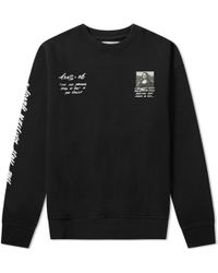 Off-White c/o Virgil Abloh Mona Lisa Over Crew Sweat - Black
