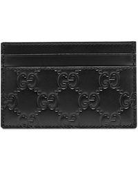 Gucci GG Embossed Card Holder - Black