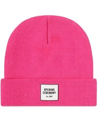 Opening Ceremony Logo Knit Beanie - Pink