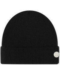 Folk Wool Cashmere Beanie - Black