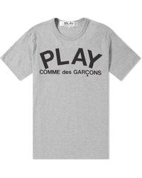 Play Comme des Garçons - Comme Des Garcons Play Text Logo Tee - Lyst