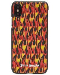Palm Angels Burning Iphone X Case - Orange