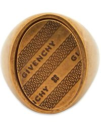 Givenchy Chain Signet Ring - Metallic