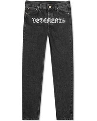 Vetements Gothic Jean - Black