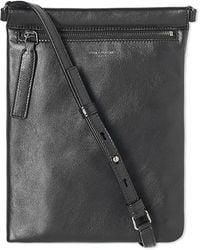 Saint Laurent Leather Zip Shoulder Bag - Black