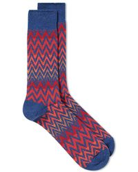 Anonymous Ism - Zig Zag Crew Sock - Lyst