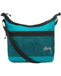 Stussy Lightweight Shoulder Bag - Blue