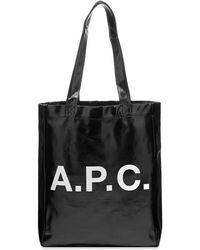 A.P.C. Lou Metallic Tote - Black