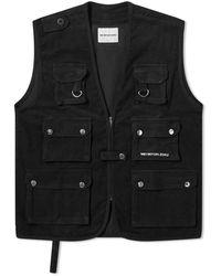 MKI Miyuki-Zoku Corduroy Utility Vest - Black