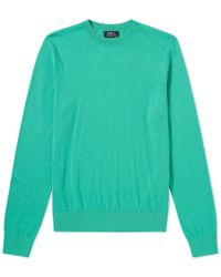 A.P.C. - Thierry Crew Knit - Lyst