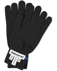 ADER error Wrist Label Glove - Black
