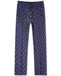Needles Jacquard Polka Dot Track Pant - Blue