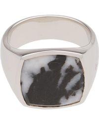 Tom Wood - Cushion Zebra Marble Ring - Lyst
