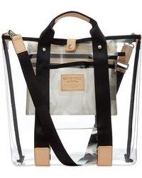 Master Piece Liquid Tote Bag - White