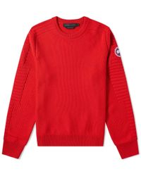 Canada Goose Paterson Crew Knit - Red