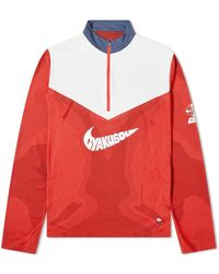Nike Nike X Gyakusou Long Sleeve Zip Up - Red