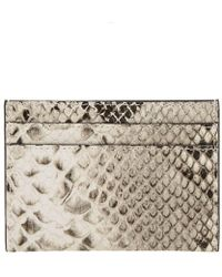 Dries Van Noten - Snakeskin Card Holder - Lyst