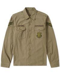 Uniform Experiment - Back Logo Utility Shirt - Lyst
