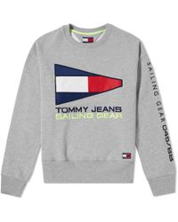 Tommy Hilfiger 5.0 Women's 90s Sailing Logo Crew Sweat - Gray