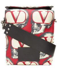 Valentino X Undercover Valentino Garavani Skull-print Messenger Bag - Red