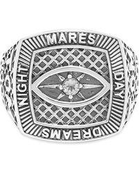 Tom Wood Champion Ring Crystal Eye - Metallic