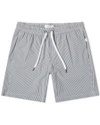 "Onia Charles 7"" Micro Stripe Swim Short - Blue"