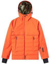 3 MONCLER GRENOBLE Achensee Embossed Logo Hooded Down Jacket - Orange