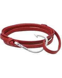 Miansai - Silver Hook Leather Bracelet - Lyst