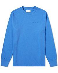 Aimé Leon Dore Logo Long Sleeve Tee - Blue