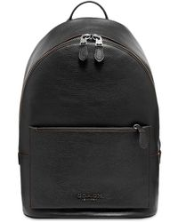 COACH Leather Backpack - Black