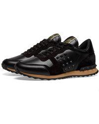Valentino Tonal Rockrunner Sneaker - Black