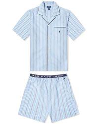 Polo Ralph Lauren Striped Pyjama Twinset - Blue