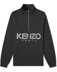 KENZO Sport Half-zip Sweat - Black