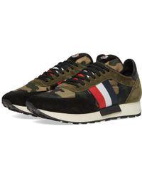 Moncler Horace Camo Running Sneaker - Green