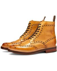 Grenson Fred Brogue Boot - Brown