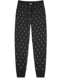 Polo Ralph Lauren All Over Pony Sleepwear Pant - Black