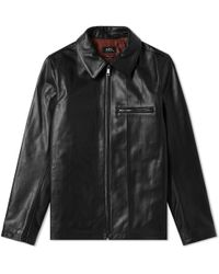 A.P.C. - No Fun Leather Jacket - Lyst
