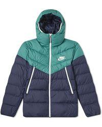 Nike - Hooded Down Jacket - Lyst