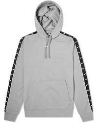 Nike Repeat Taped Popover Hoody - Gray