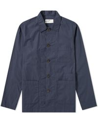 Universal Works - Bakers Overshirt - Lyst