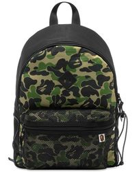 A Bathing Ape Abc Camo Bungee Cord Day Pack - Green