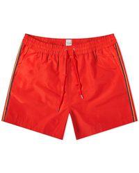 Paul Smith Classic Side Stripe Swim Short - Red