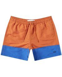 Norse Projects Hauge Colour Block Swim Short - Orange